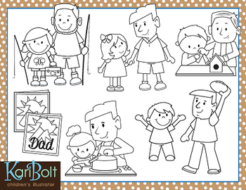 Daddy and Me, Father's Day Clip-Art