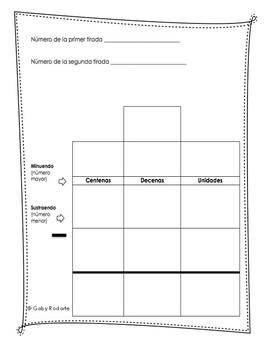 Dados Para Restar (Subtraction Practice in Spanish) FREEBIE