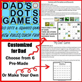 Fathers/Dads Day Dot Games Gift & Card
