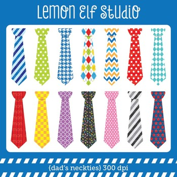 Dad's Neckties-Digital Clipart (LES.CL32)
