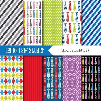 Dad's Neckties-Digital Paper (LES.DP32)