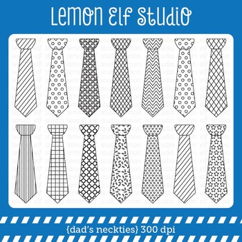 Dad's Neckties-Digital Stamp (LES.DS32)