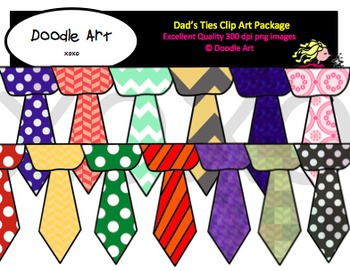 Dad's Ties Clipart Pack