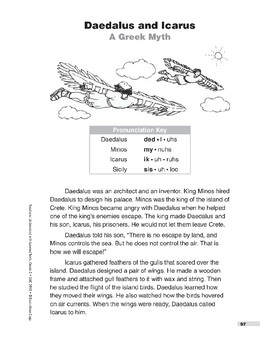 Daedalus and Icarus: A Greek Myth (Lexile 590)