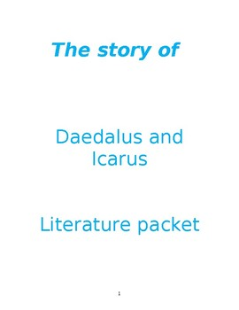 Daedalus and Icarus Literature Packet