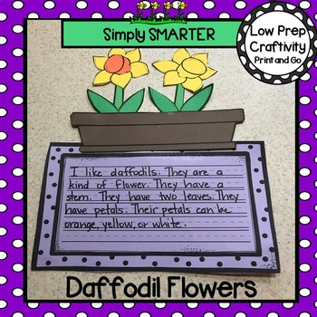 Daffodil Flowers Writing Cut and Paste Craftivity