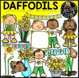 Daffodils Clipart Set {Educlips Clipart}