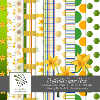 Daffodils Paper Pack