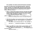 Dahl's The Landlady Short Constructed Response Questions w