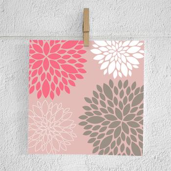 Dahlia Digital Paper Floral Flower Patterns