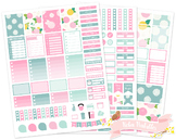 Dahlia Flowers Printable Weekly Planner Stickers fits Erin Condren Planner