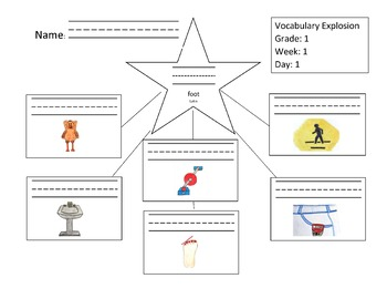 Daily 1st Grade Vocabulary Explosion - Full School Year