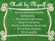 Daily 3 MATH Behaviors Anchor Charts/Posters (Green Chalkb