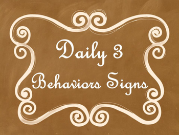 Daily 3 MATH Behaviors Anchor Charts/Posters (Ombre Chalkb