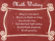 Daily 3 MATH Behaviors Anchor Charts/Posters (Red Chalkboa
