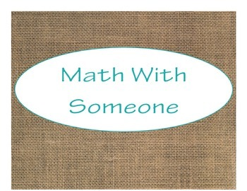 Daily 3 MATH Bulletin Board Signs/Posters (Burlap with Turquoise Lettering)