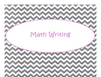 Daily 3 MATH Bulletin Board Signs/Posters (Gray Chevron Hot Pink Lettering)