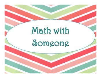 Daily 3 MATH Bulletin Board Signs/Posters (Wide Chevron Multi-Color)