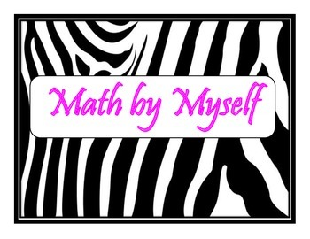 Daily 3 MATH Posters (Zebra/Hot Pink Themed)