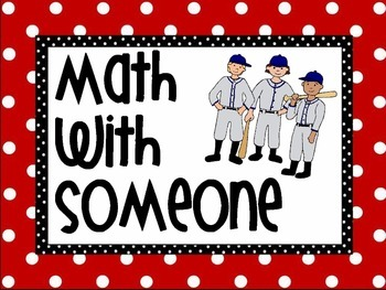 Daily 3 Math Baseball Theme