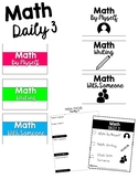 Daily 3 Math Centers