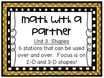 Math Centers BUNDLE - Unit 3: Shapes