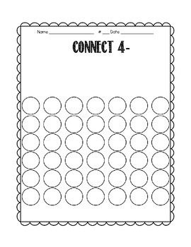 Daily 3 Math Connect 4