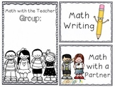 Daily 3 Math (FREEBIE!)