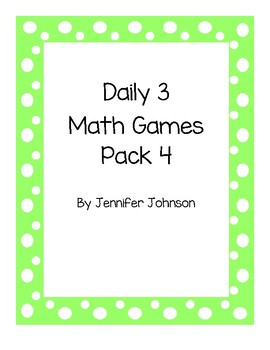 Daily 3 Math Games Pack 4