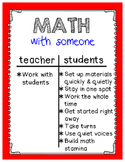 Daily 3 Math I-Charts and Center Cards