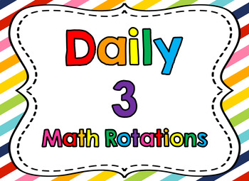 Daily 3 Math Poster and Label Set  {Editable}