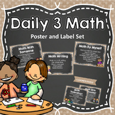 Farmhouse Daily 3 Math Poster and Label Set  {Editable}