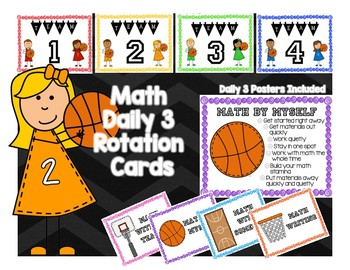 Daily 3 Math Posters