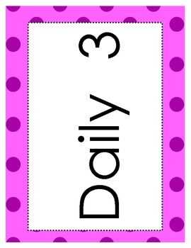 Daily 3 Math Printables - Posters and Setup