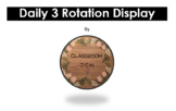 Daily 3 Math Rotation Display - EDITABLE