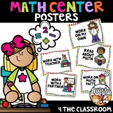 Math Rotation Posters- Bright Rainbow