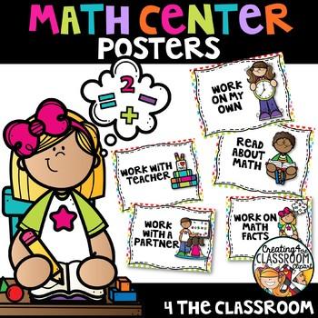 Math Rotation Posters- Bright Rainbow