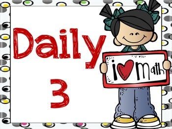 Daily 3 or Daily 5 Math Signs