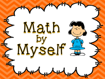Daily 3 Math Station Posters - Peanuts or Charlie Brown Themed