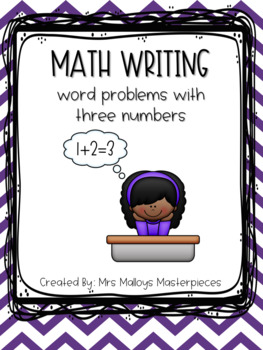 Daily 3 Math Writing: Word Problems with Three Numbers