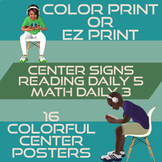 Daily 3 Math and Daily 5 Reading Posters   Space Theme