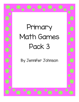Daily 3 Math primary games bundle # 3 ( 20 new games)