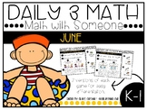 June Daily 3 Math with Someone Games