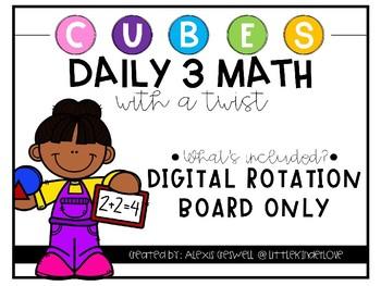 Daily 3 Math with a Twist Digital Rotation Board