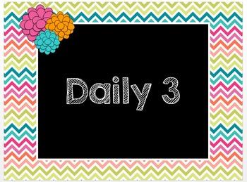 Daily 3 PowerPoint - Math with the Teacher instead of Math Writing