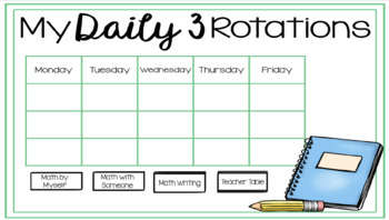Daily 3 Rotations for GOOGLE DRIVE