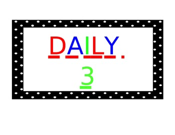 Daily 3 Signs