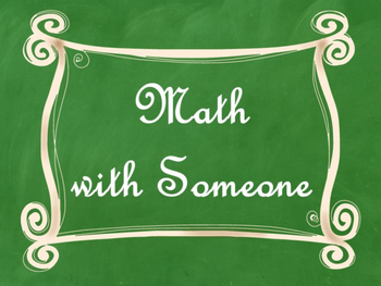 Daily 3 (Three) Math Signs/Posters (Green Chalkboard/Curly Frames Theme)