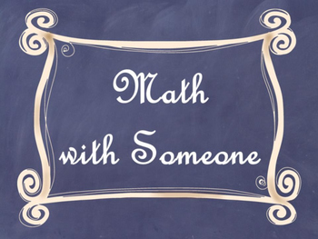 Daily 3 (Three) Math Signs/Posters (Navy Chalkboard/Curly Frames Theme)