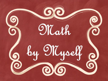 Daily 3 (Three) Math Signs/Posters (Red Chalkboard/Curly Frames Theme)